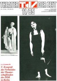 Theater der Zeit 11/1985