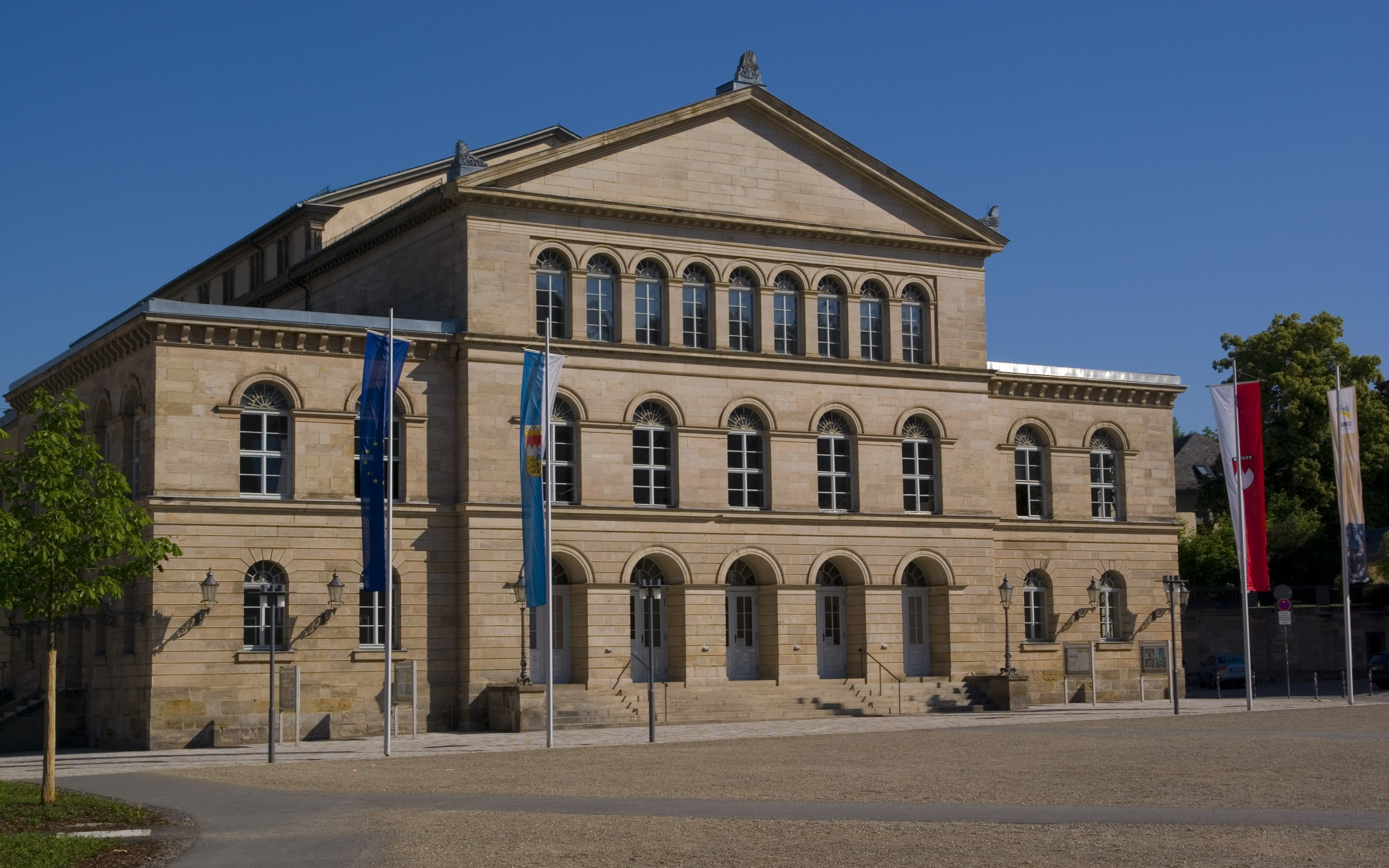 Landestheater in Coburg, Seite Schlossplatz