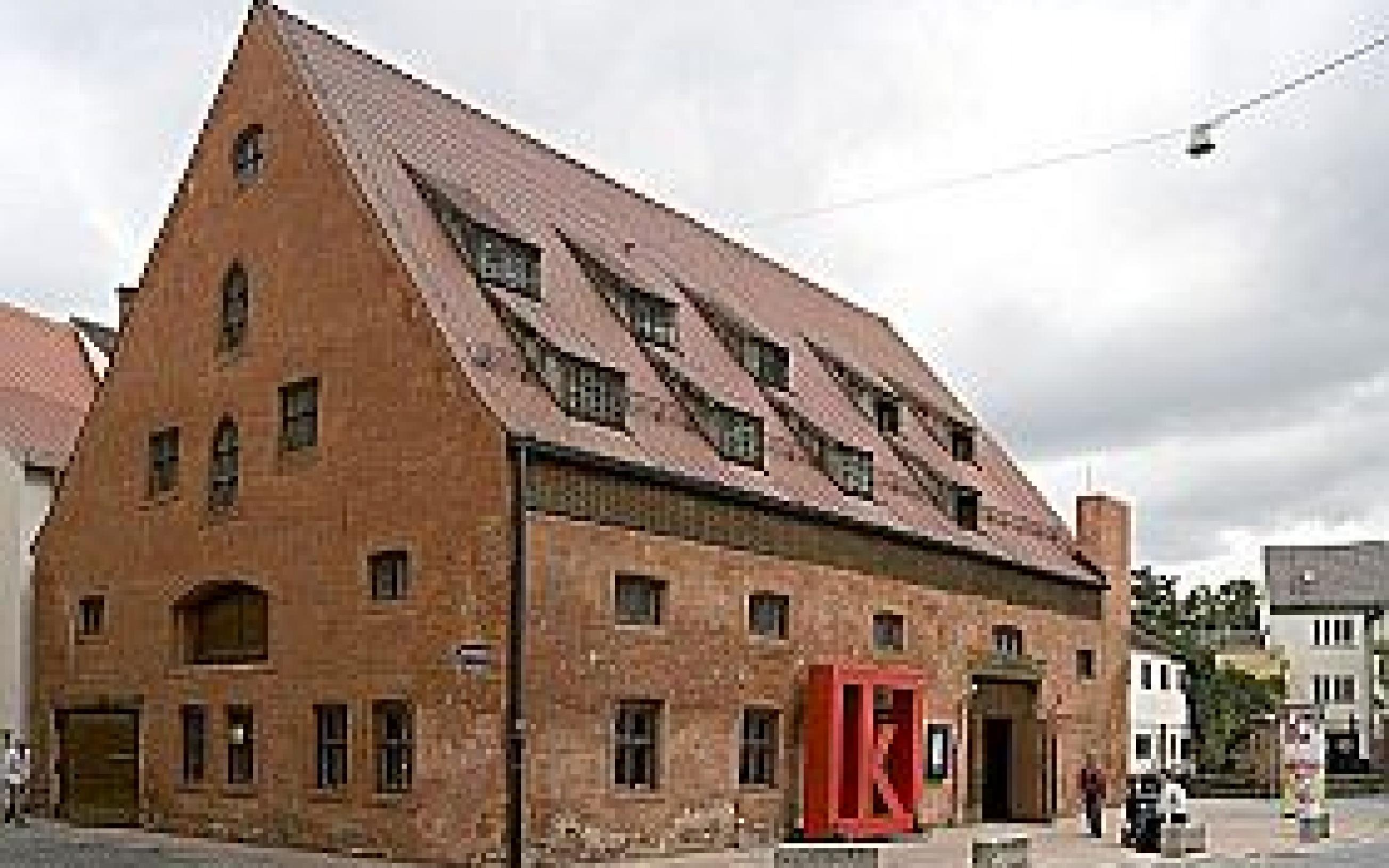 Gebaeude des kleinen theaters Kammerspiele Landshut