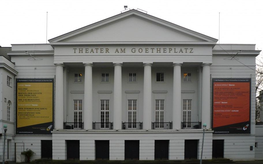Das Theater am Goetheplatz in Bremen. Es ist eine der Spielstättendes Theater Bremen.