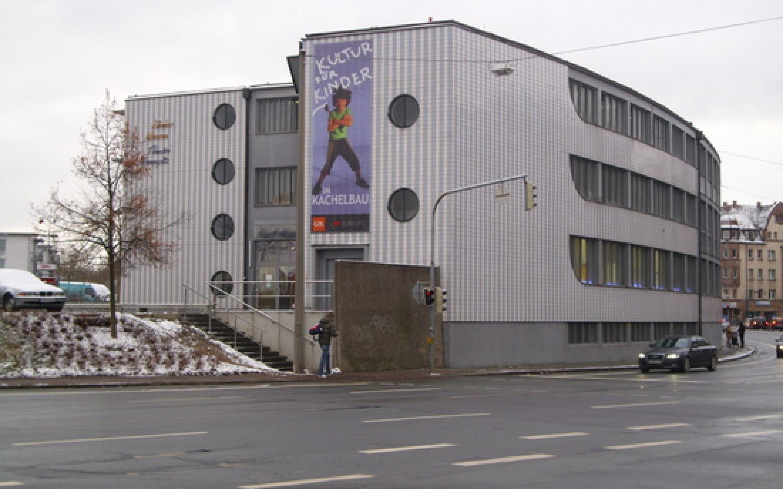 Das Theater Mummpitz im sogenannten Kachelbau in der Michael-Ende-Straße 17 in Nürnberg