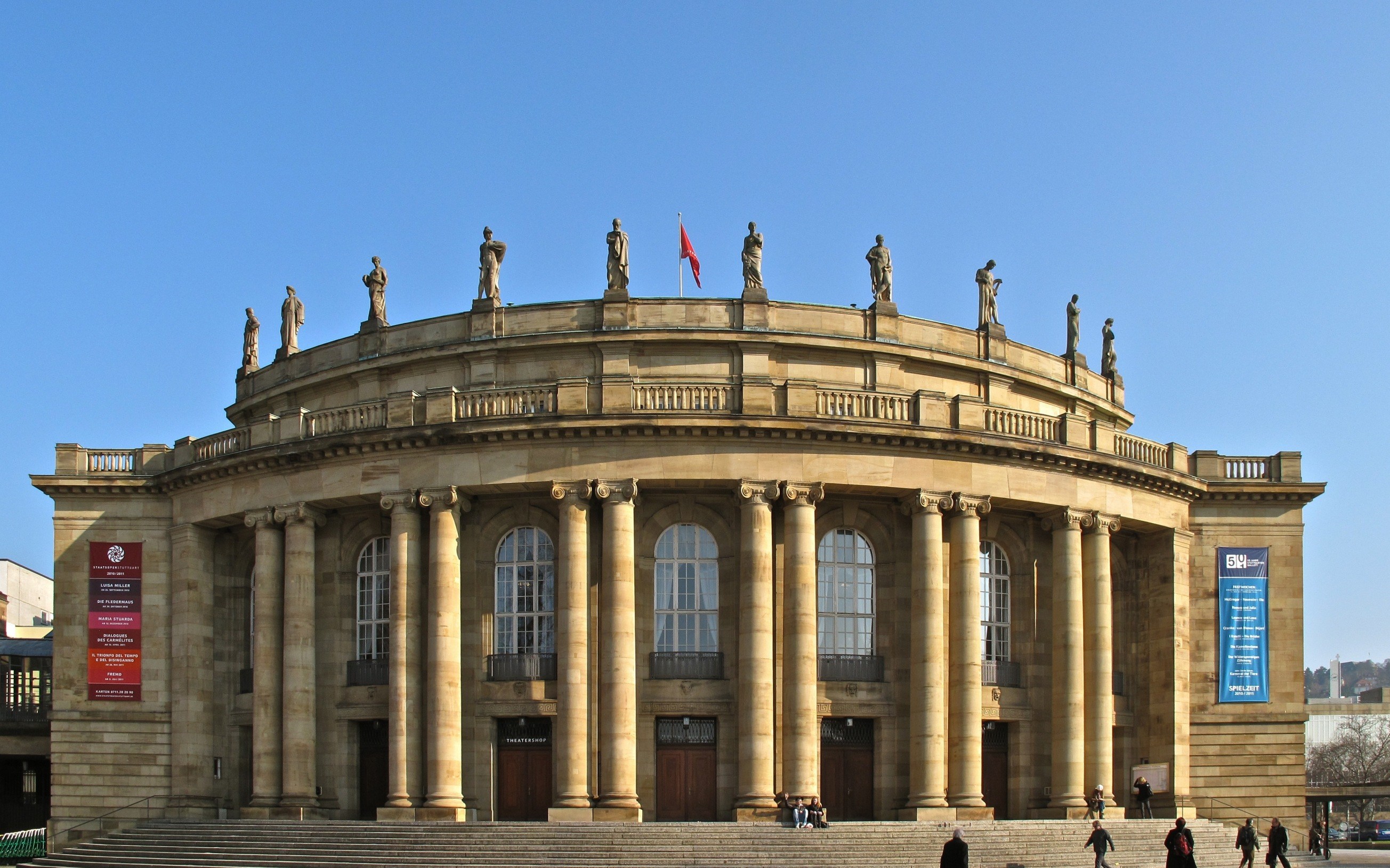 Das Staatstheater Stuttgart im Schlossgarten in der Stuttgarter Innenstadt.