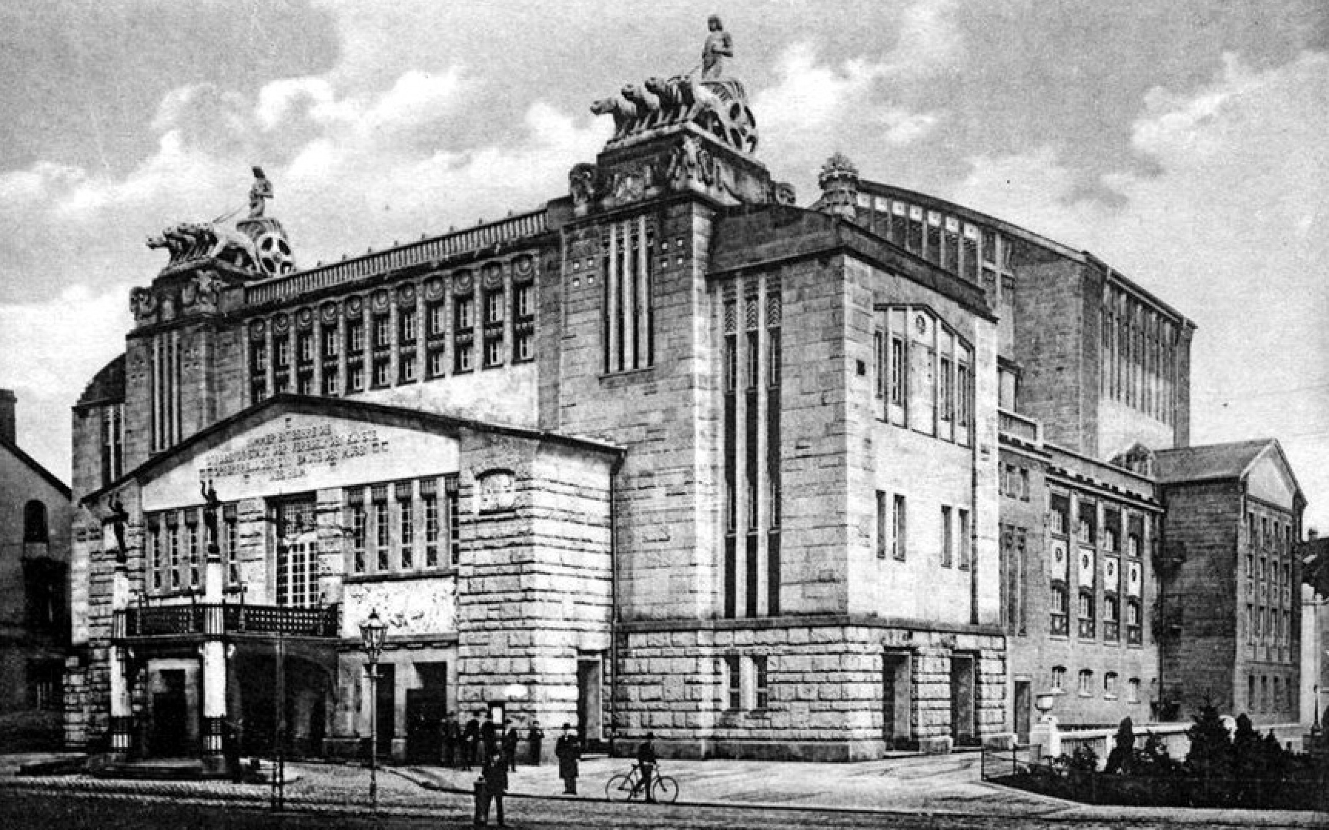 Historische Postkarte, Stadttheater