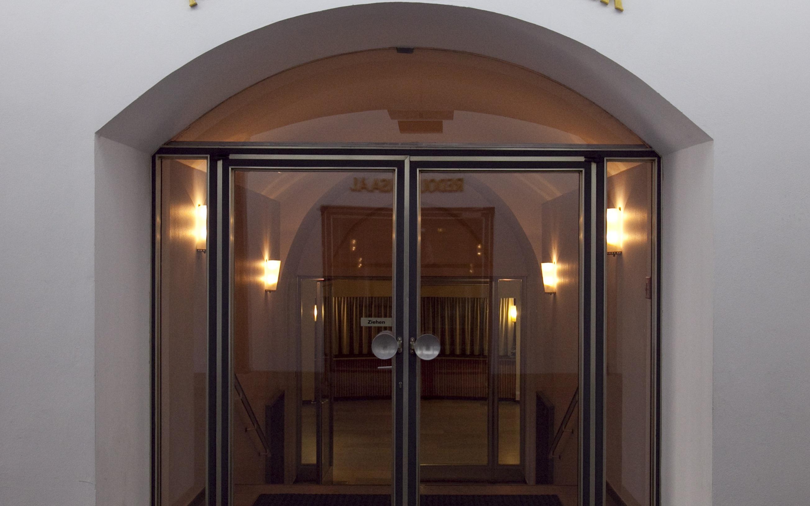 Der Eingang des Markgrafentheaters