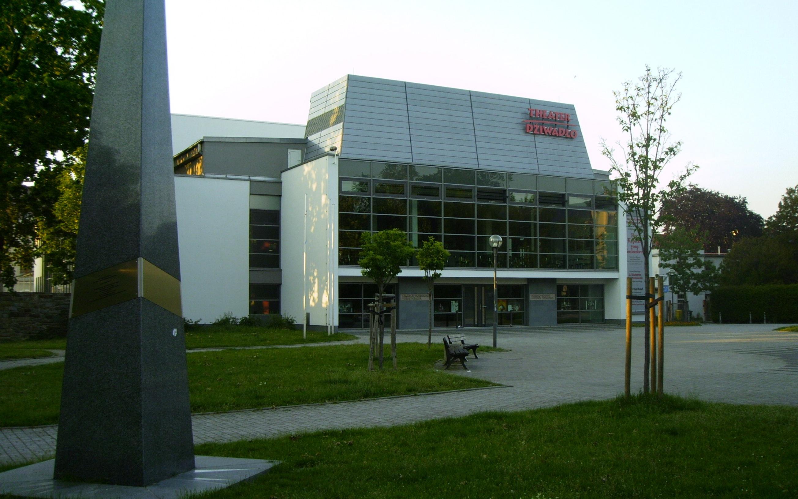 Deutsch-Sorbisches Volkstheater in Bautzen in Sachsen, Deutschland.