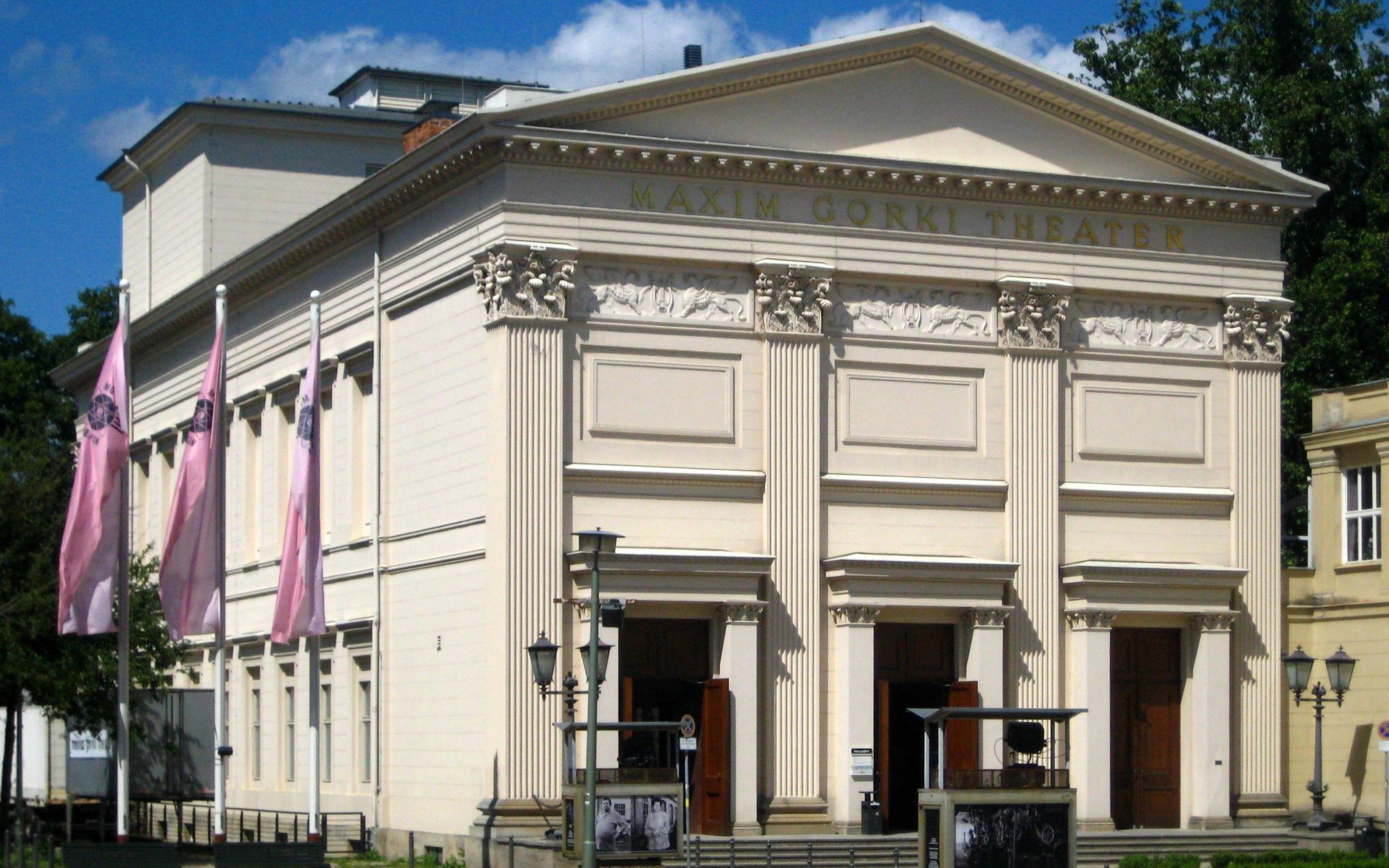 """Das """"Maxim-Gorki-Theater"""", Am Festungsgraben in Berlin-Mitte; erbaut 1825-1827 als Singakademie nach einem Entwurf"""