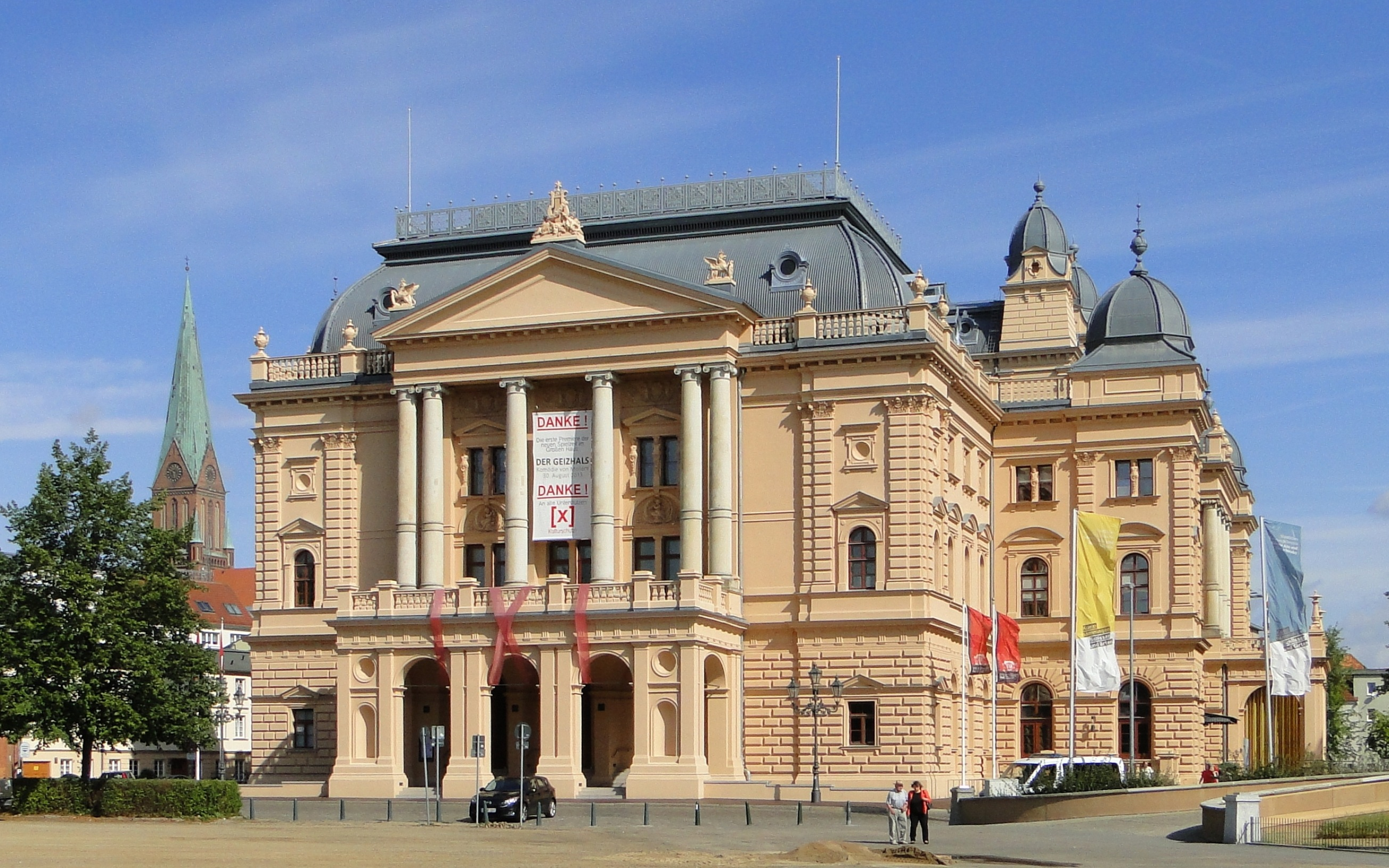 Mecklenburgisches Staatstheater in Schwerin, Mecklenburg-Vorpommern, Deutschland