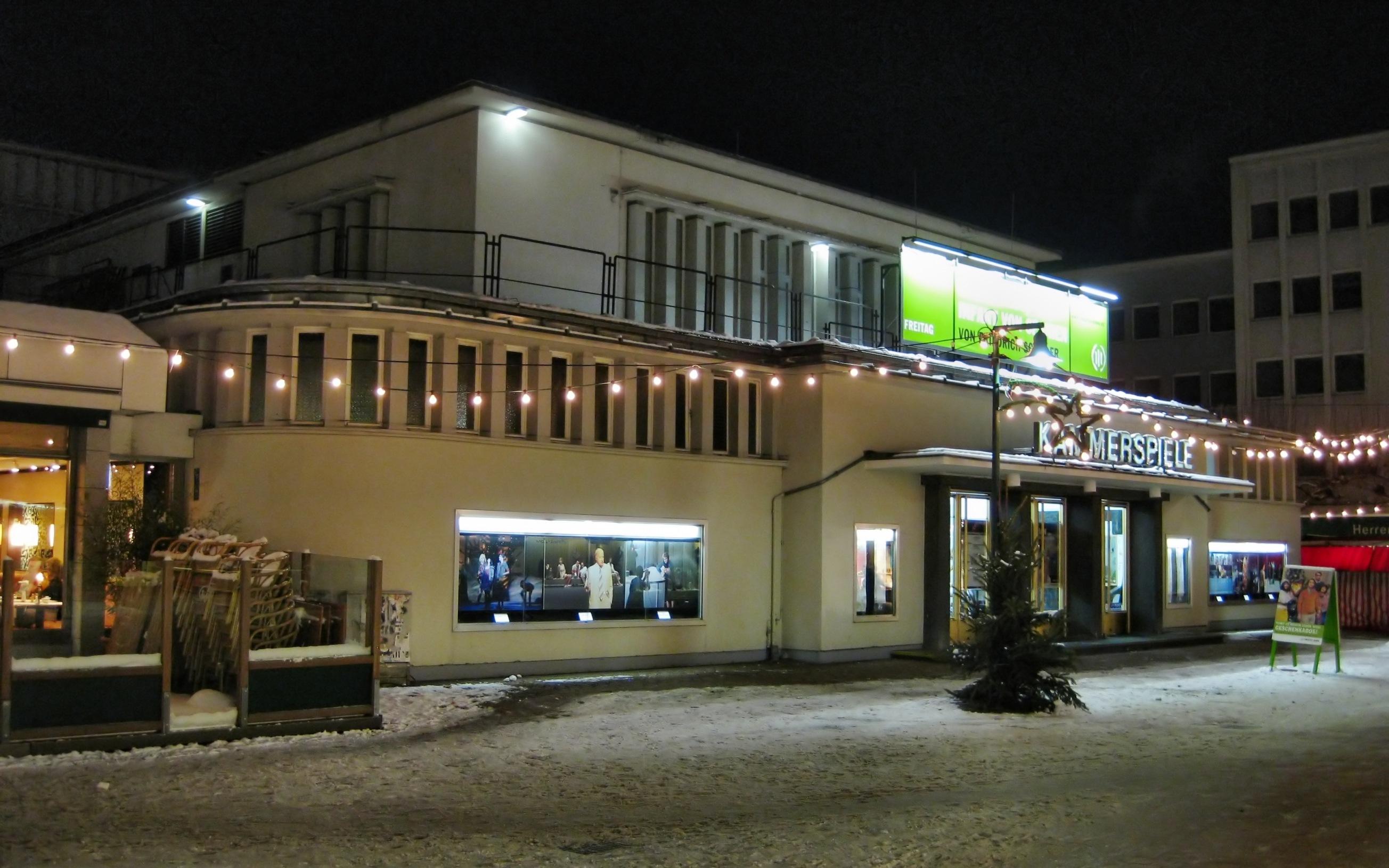 Kammerspiele: angeblich in den 50er Jahren als Stadttheater Bad Godesberg der erste Theaterneubau nach dem Krieg in