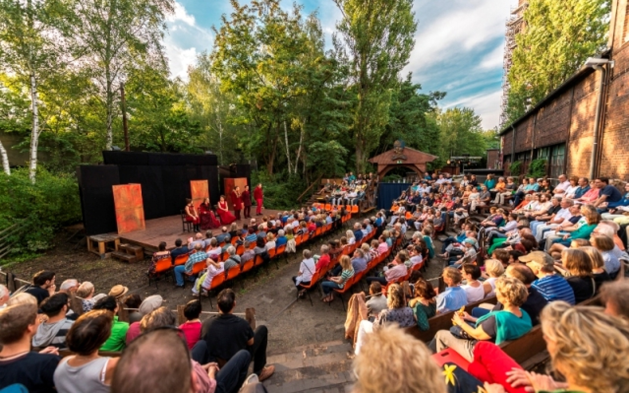 Die Freilichtbühne der Shakespeare Company Berlin im Natur-Park Schöneberger Südgelände