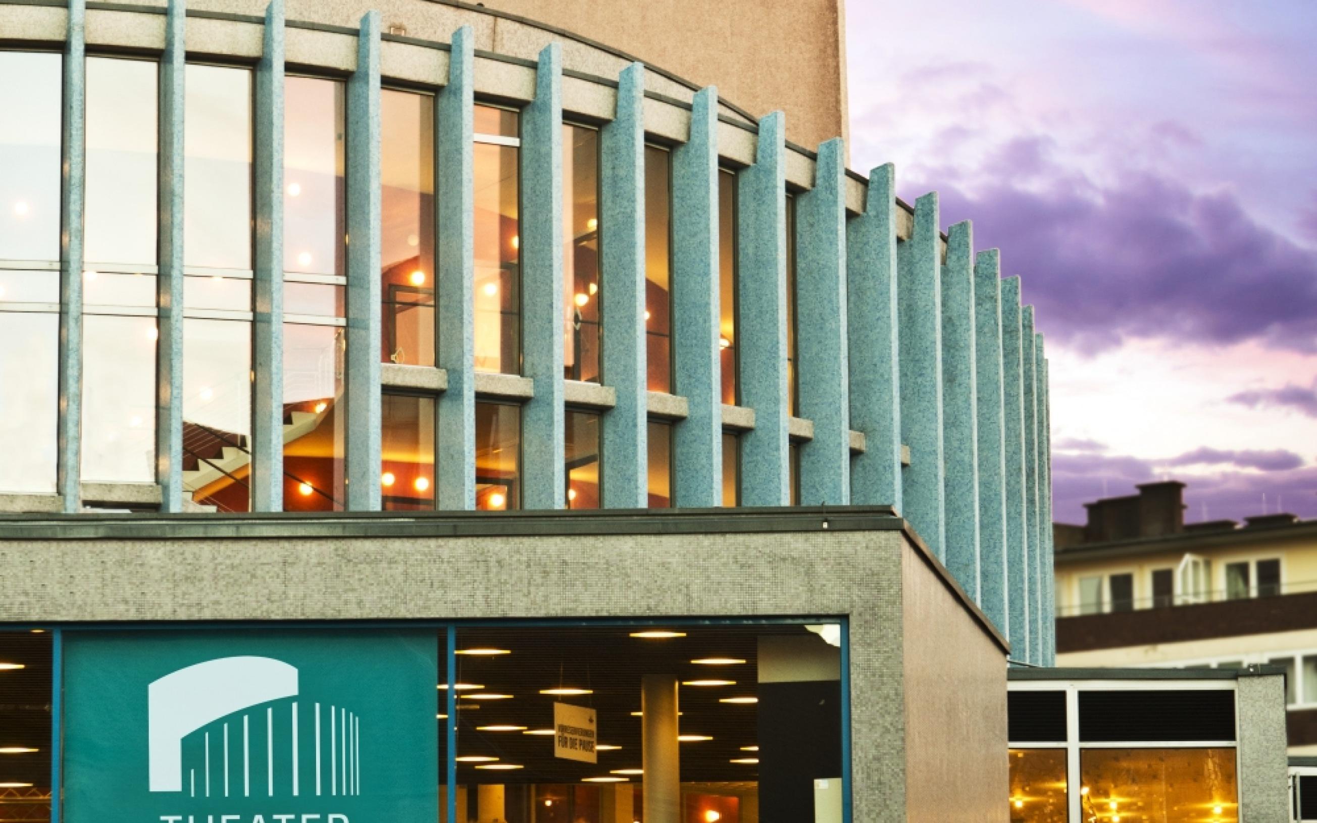 Außenansicht des Theater Münster mit seiner einzigartigen Architektur