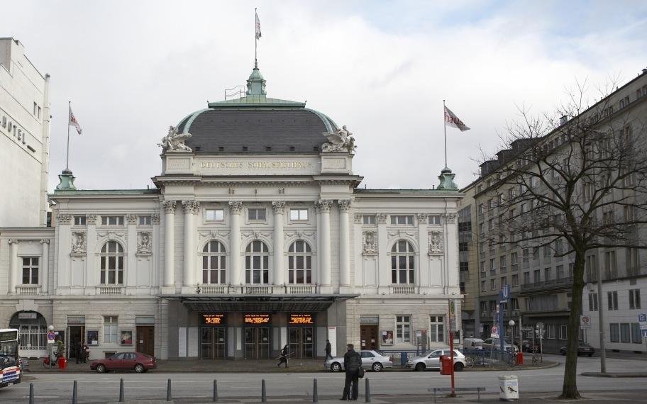 Hamburg, Deutsches Schauspielhaus, Vorderseite  Dieses Bild zeigt ein Baudenkmal. Es ist Teil der Denkmalliste von