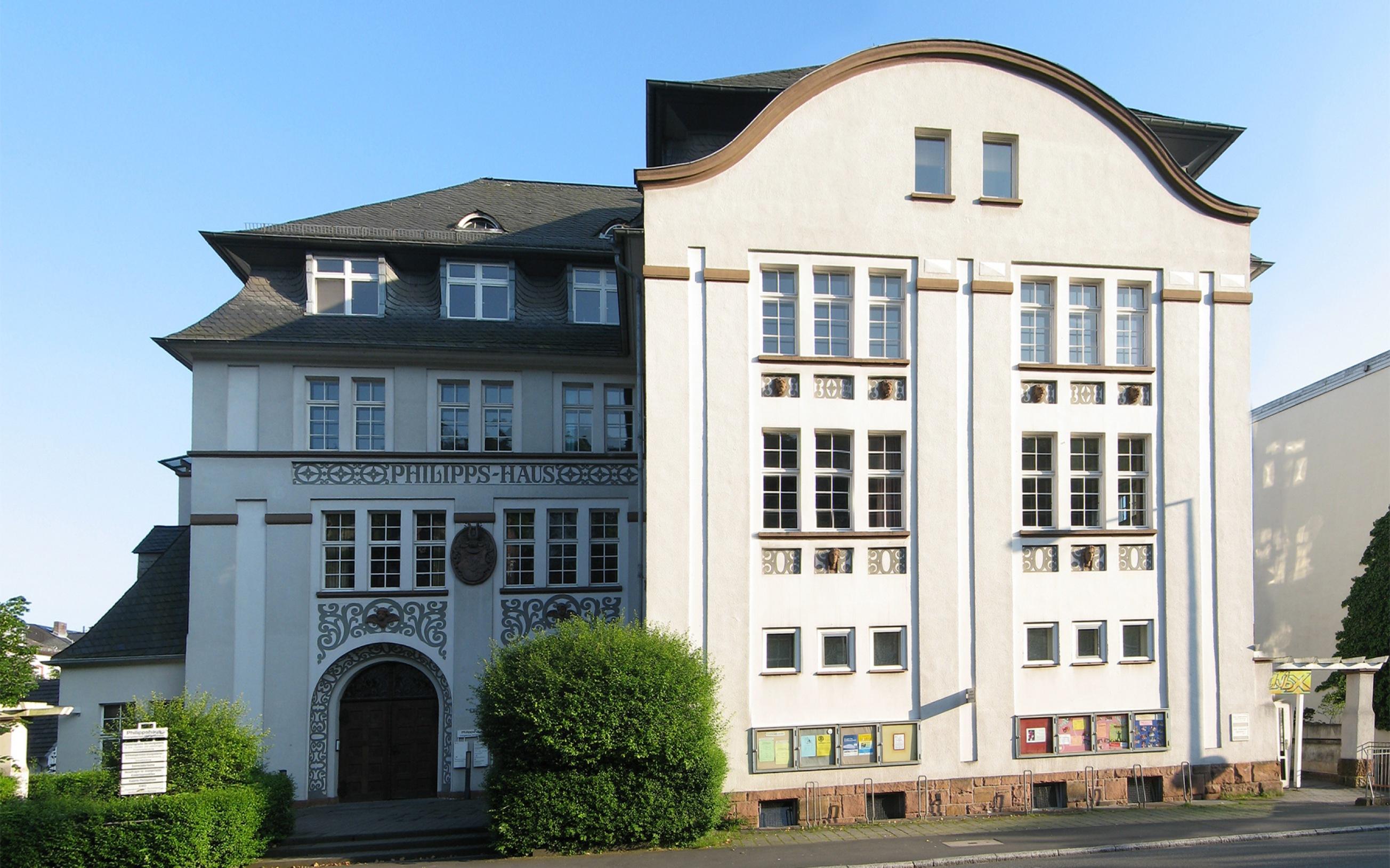 Philipps-Haus, Marburg, Universitätsstr. 32. Das Philippshaus ist durch eine Initiative aus dem Jahr 1904 entstan
